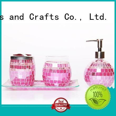 New Mosaic Glass Bathroom Accessories Houseware Factory For Home Yixin
